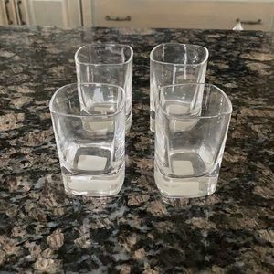 CRATE AND BARREL STAUSS CORDIAL GLASSES 2OZ NWT